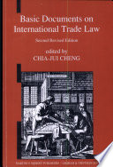 Basic Documents on International Trade Law