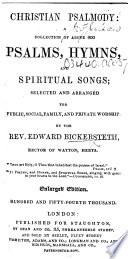 Christian Psalmody     Enlarged edition  Hundred and fifty fourth thousand