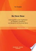 Be Here Now  Lebensgef  hl in der Popliteratur am Beispiel  Soloalbum  von Benjamin von Stuckrad Barre