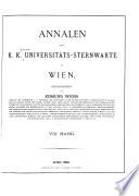Annalen der Universitäts-Sternwarte Wien