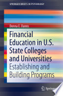 Financial Education In U S State Colleges And Universities