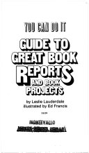 You Can Do It Guide to Great Book Reports and Book Projects