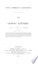 The Currency Question  The Gemini Letters