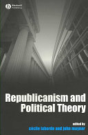 Republicanism and political theory