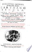 Augustini Inveges ... Carthago Sicula ... Ex Italicis Latina fecit, præfationem atque indices adjecit S. Havercampus. [With plates.]