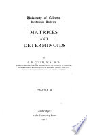 Matrices and Determinoids