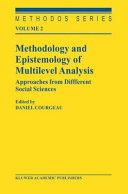 Methodology and Epistemology of Multilevel Analysis
