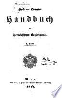 Hof- und Staats-Handbuch des österreichischen Kaiserthumes