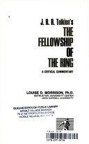 J R R  Tolkien s the Fellowship of the Ring