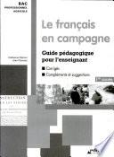 Fran  ais en campagne   Guide p  dagogique  1  re ann  e   Le