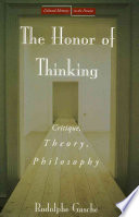 The Honor of Thinking