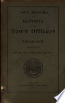 Annual Report of the Town Officers     and the Town Records     Book PDF