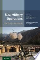 U S  Military Operations