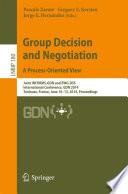 Group Decision and Negotiation  A Process Oriented View