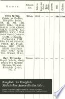 Rangliste der Königlich Sächsischen Armee für das Jahr ...