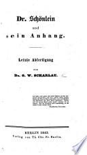 Dr Schönlein und sein Anhang. Letzte Abfertigung