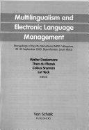 Multilingualism and Electronic Language Management