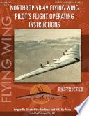 Northrop Yb 49 Flying Wing Pilot s Flight Manual