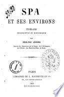 Spa et ses environs itineraire descriptif et historique par Adolphe Joanne