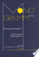 Dictionary of monograms 1