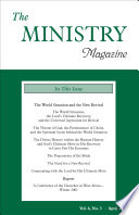The Ministry Of The Word, Vol. 6, No. 3 : given during the 2001 thanksgiving weekend conference...