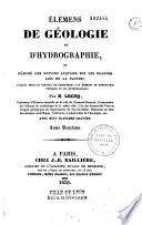 El  ments de g  ologie et d hydrographie