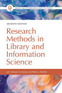 Research Methods In Library And Information Science 7th Edition