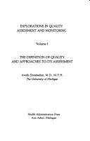 The Definition of Quality and Approaches to Its Assessment