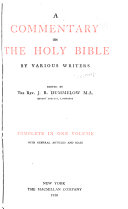 a commentary on the holy bible by various writers