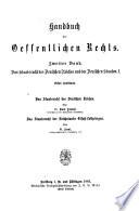Das Staatsrecht des Deutschen Reiches und der Deutschen Staaten