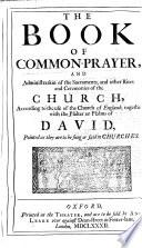 The Book Of Common Prayer : ...