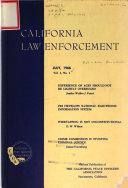 Journal of California Law Enforcement