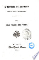 L osteria di Andujar azione comica in tre atti  La poesia    del signor L  Tarantini