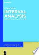 Interval Analysis