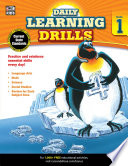 Daily Learning Drills  Grade 1