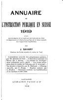Annuaire de l instruction publique en Suisse