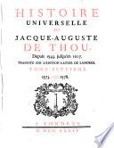 Histoire Universelle de Jacque Auguste De Chow, 7