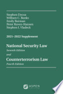 National Security Law Sixth Edition And Counterterrorism Law Third Edition
