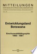 Entwicklungsland Botswana