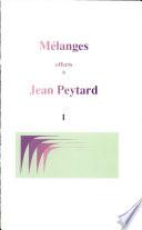 M  langes offerts    Jean Peytard