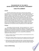 The Secretary of the Army's Senior Review Panel Report on Sexual Harassment: Volume 2