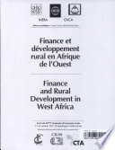 Finance and Rural Development in West Africa
