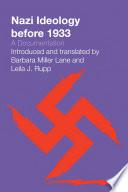Nazi Ideology Before 1933
