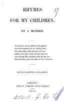 Rhymes for my children, by a mother [M. Gurney].