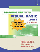 Starting Out With Visual Basic Net