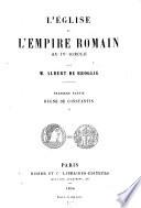 L' église et l'empire Romain aux IVe siècle