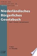 Niederl  Ndisches B  Rgerliches Gesetzbuch Buch 1 Personen  Und Familienrecht