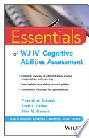 Essentials of WJ IV Cognitive Abilities Assessment