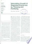 Stimulating growth of stagnated Acacia koa by thinning and fertilizing