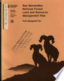San Bernardino National Forest  N F    Land and Resource s  Management Plan  LRMP